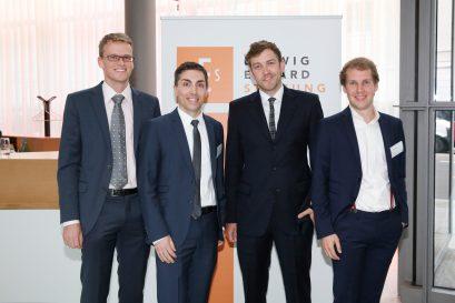 Förderpreisträger Prof. Dr. Philipp Bagus, Massimo Bognanni, Florian Meyer-Hawranek und Simon Book