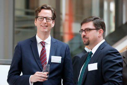PD Dr. Christian Growitsch, Mitglied des Wissenschaftlichen Beirats der Ludwig-Erhard-Stiftung, und Lars Vogel, Geschäftsführer der Ludwig-Erhard-Stiftung