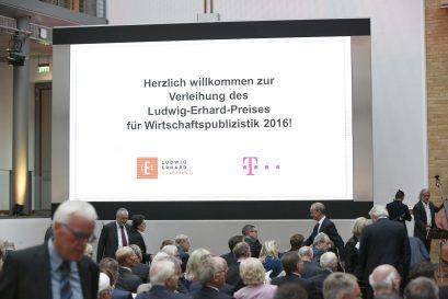 Verleihung des Ludwig-Erhard-Preises für Wirtschaftspublizistik 2016 in den Räumlichkeiten der Deutsche Telekom Hauptstadtrepräsentanz in Berlin