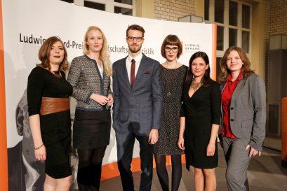 Förderpreisträger-Team Lisa Malecha, Dr. Katharina Derlin, Nils Oehlschläger, Linda Tonn, Isabell Rollenhagen, Sabine Gurol