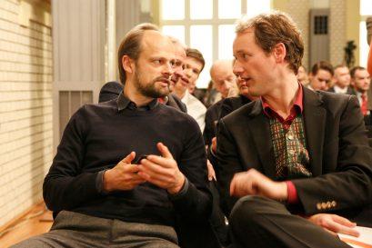 Förderpreisträger Jan Grossarth und Förderpreisträger Prof. Dr. David Stadelmann