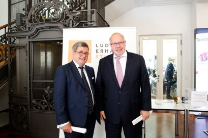 Roland Tichy, Vorsitzender der Ludwig-Erhard-Stiftung, und Peter Altmaier MdB, Bundesminister für Wirtschaft und Energie