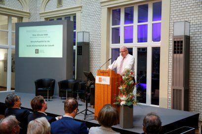 """Bundesminister Peter Altmaier hält die Festrede mit dem Titel """"Wirtschaftspolitik für die Soziale Marktwirtschaft der Zukunft""""."""