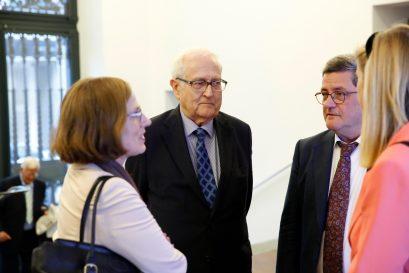 Heike Göbel, Mitglied der Jury des Ludwig-Erhard-Preises für Wirtschaftspublizistik, Bundesminister a.D. Rainer Brüderle, Roland Tichy, Dr. Dorothea Siems