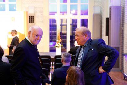 Prof. Dr. Joachim Starbatty, Mitglied der Ludwig-Erhard-Stiftung, und Prof. Dr. Gerd Habermann