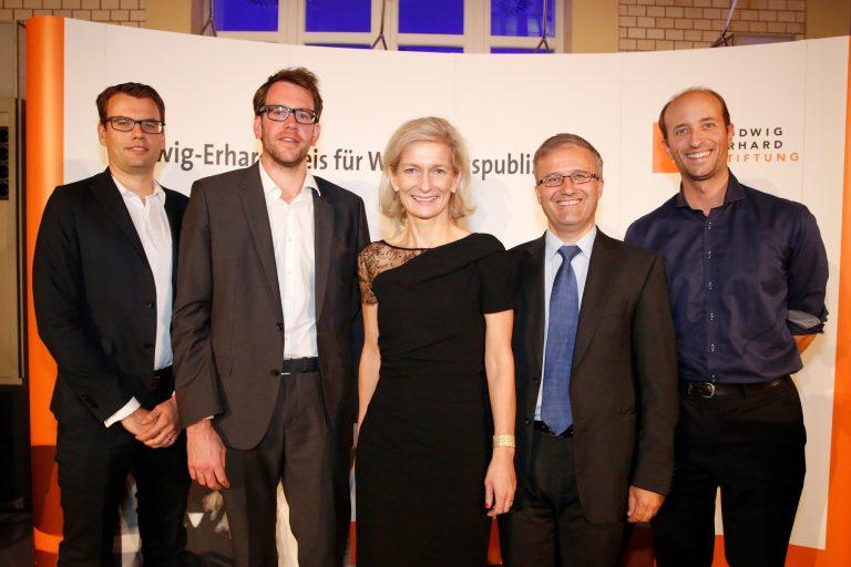 Christian Wermke, Daniel Sprenger, Zanny Minton Beddoes, Dr. Peter Rásonyi und Patricius Mayer