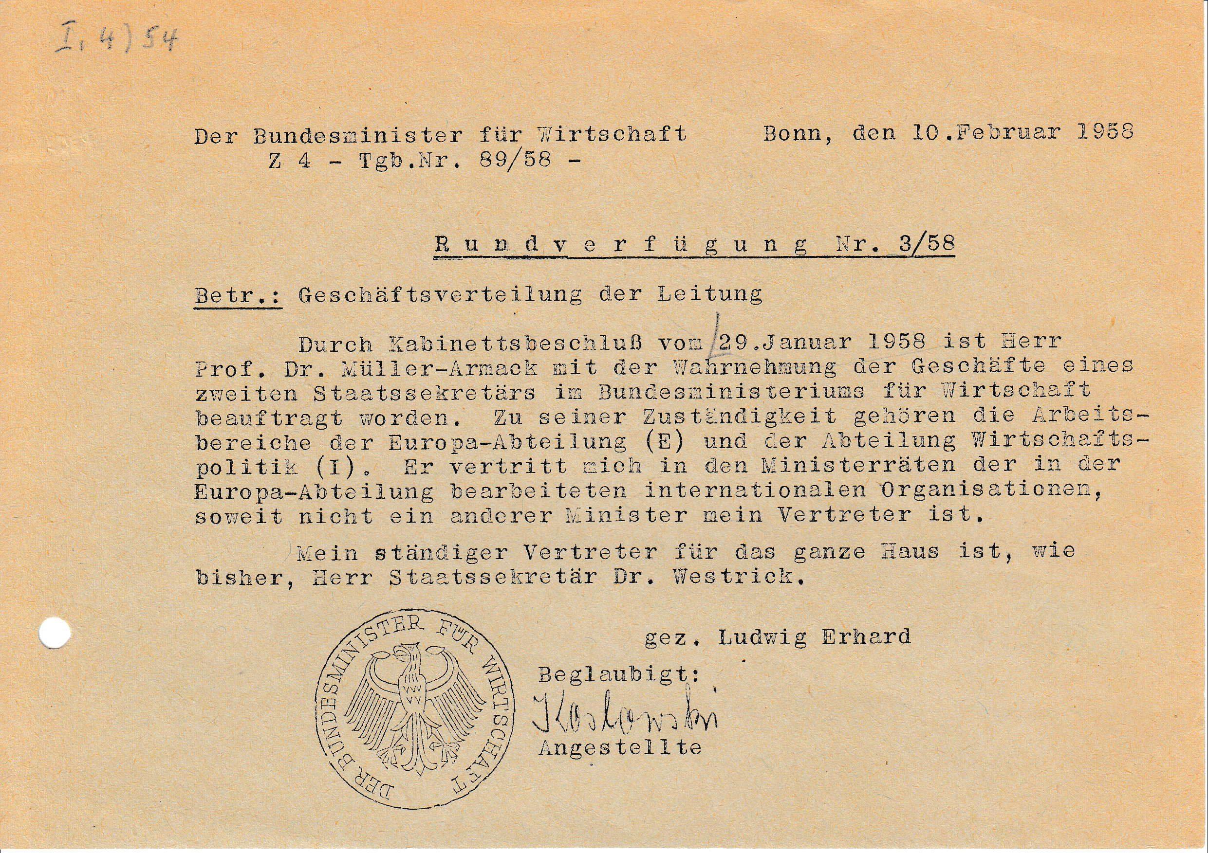 Schicksalsjahr Für Erhards Marktwirtschaft Ludwig Erhard Stiftung