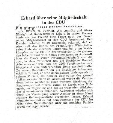 Stuttgarter Zeitung vom 26. Februar 1966