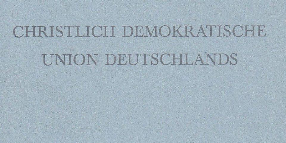 Ludwig Erhard und die CDU