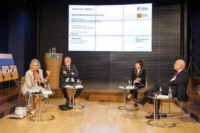 Panel I, moderiert von Ursula Weidenfeld, Mitglied der Ludwig-Erhard-Stiftung