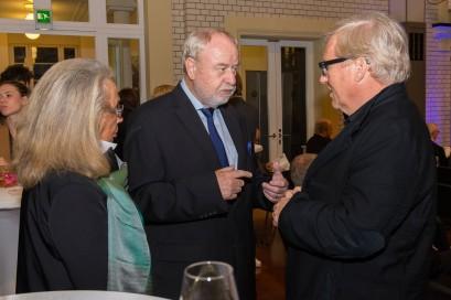 Günter Ederer (Mitte) mit Frau und Oswald Metzger