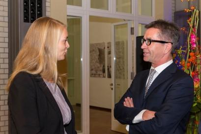 Förderpreisträgerin Kathrin Werner und Dr. Rainer Hank