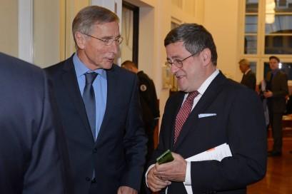 Wolfgang Clement und Roland Tichy im Gespräch