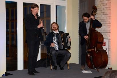 """Das """"Trio Laccasax"""" sorgte für schwungvolle Musik."""
