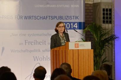 Heike Göbel, Mitglied der Jury des Ludwig-Erhard-Preises, sprach die Laudationes auf die Förderpreisträger.