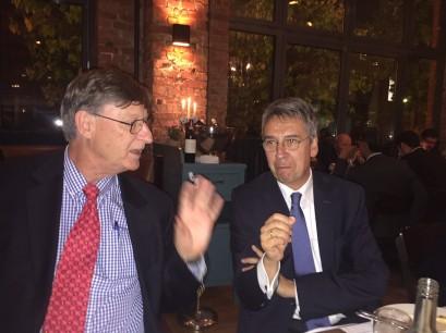 Google-Chefökonom Hal Varian im Gespräch mit Kartellamtspräsident Andreas Mundt.