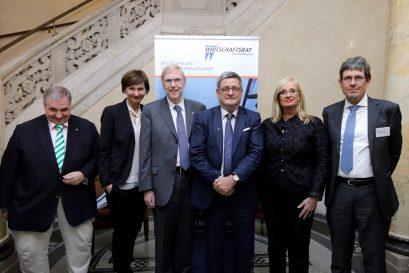 Wolfgang Steiger, Bettina Stark-Watzinger MdB, Prof. Dr. Thomas Mayer, Roland Tichy, Claudia Dörr-Voß, René Höltschi