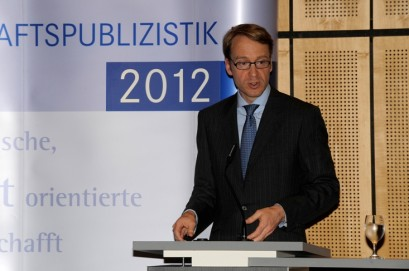 Dr. Jens Weidmann bei seiner Ansprache