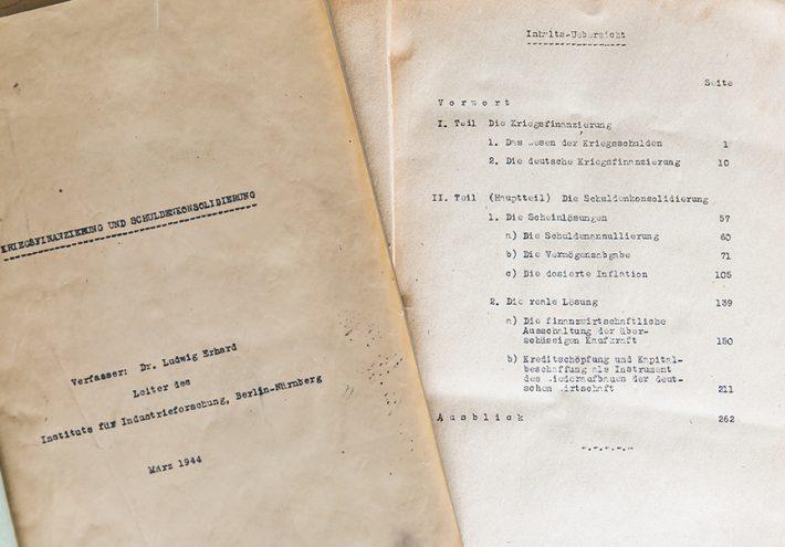 """""""Kriegsfinanzierung und Schuldenkonsolidierung"""""""