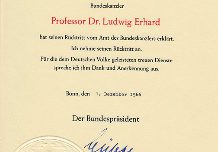 Ludwig Erhards Rücktritt als Bundeskanzler
