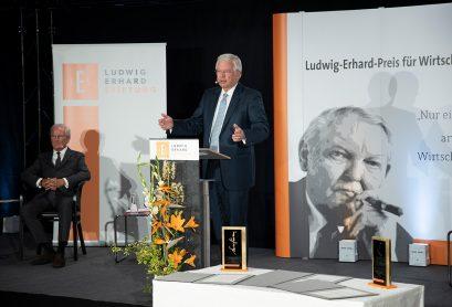 Roland Koch, Vorsitzender der Ludwig-Erhard-Stiftung, in seiner Begrüßungsrede